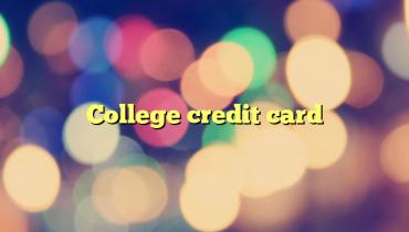 College credit card